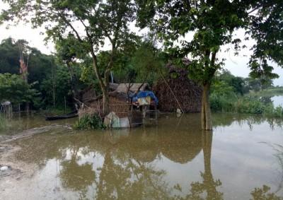 नवगछिया : इस्माईलपुर प्रखंड में कटाव के बाद अब बाढ़ का खतरा लगा मंडराने